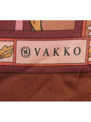 Vakko long silk scarf