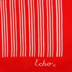 Echo red and white silk scarf