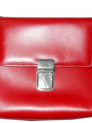 Furla red leather handbag