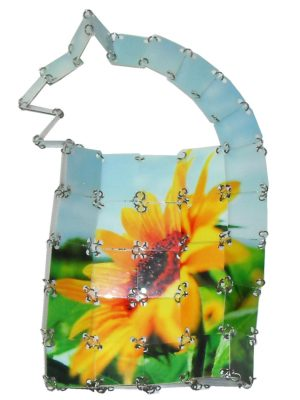 Sunflower design plastic handbag