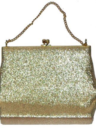 Gold framed evening bag