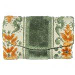 Green orange and cream key wallet purse