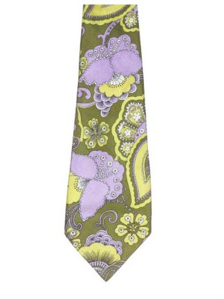 Altesse floral design twill tie