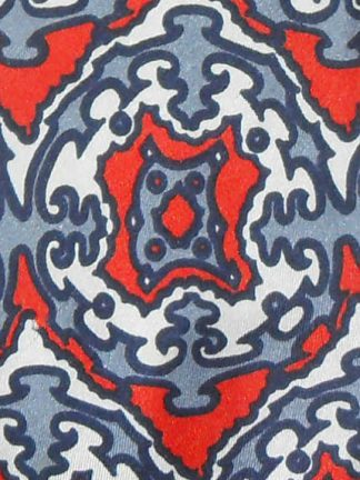 Gentleman silk tie with a red, white and blue design