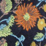 Hatton tie - close-up floral design.