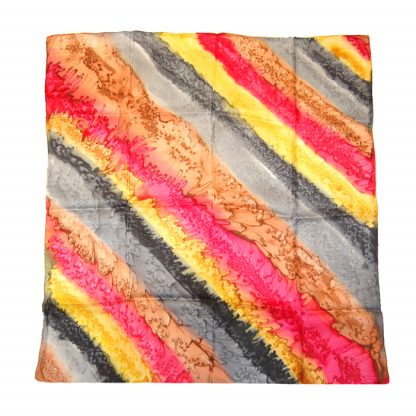 Silk scarf with a vibrant design
