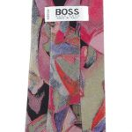 Boss Abstract Design Silk Tie