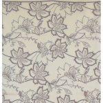 Beckford England cream and brown design silk scarf