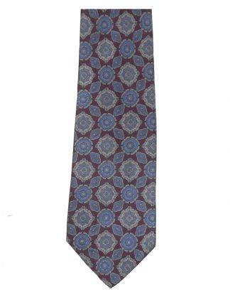 Valente blue and maroon silk tie