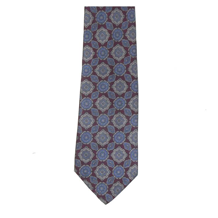 Valente blue and maroon silk tie