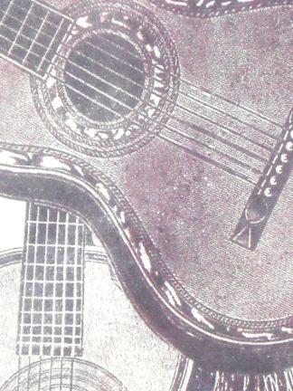 Guitar Design Silk Tie