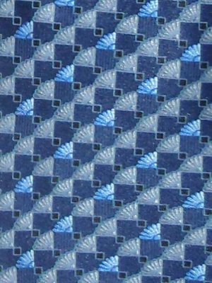 Lanvin blue design retro silk tie