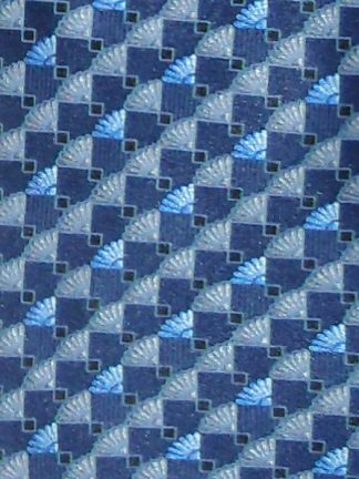 Lanvin blue design retro silk tie