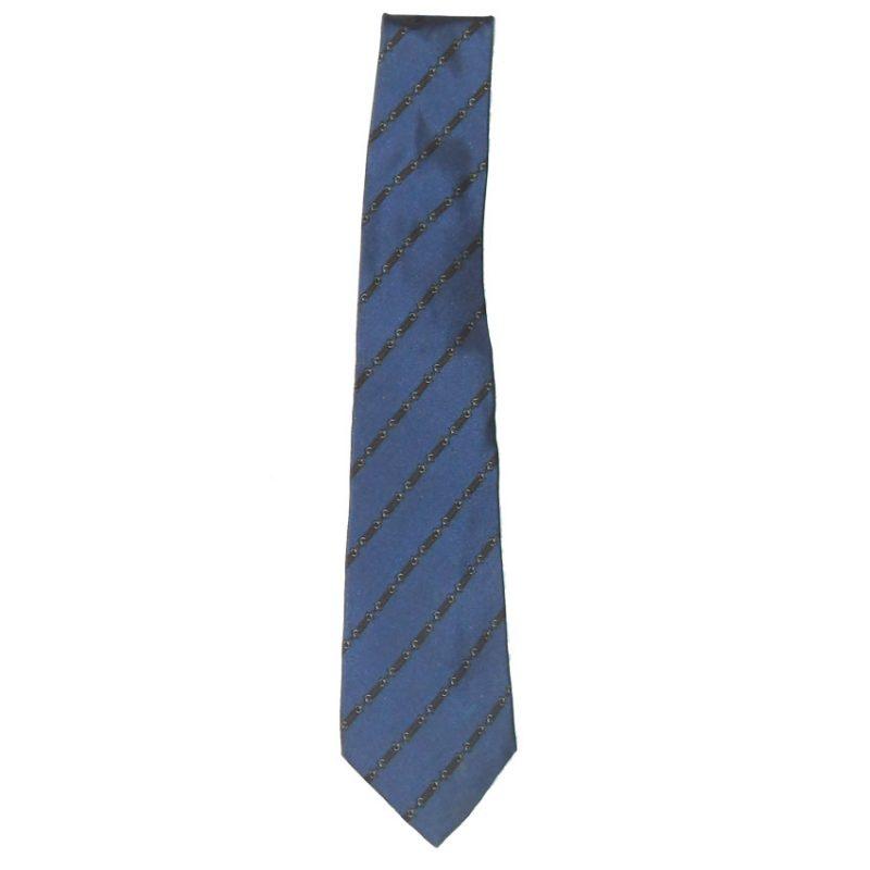 Charles Jourdan blue silk vintage tie