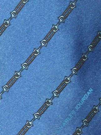 Charles Jourdan blue silk vintage tie