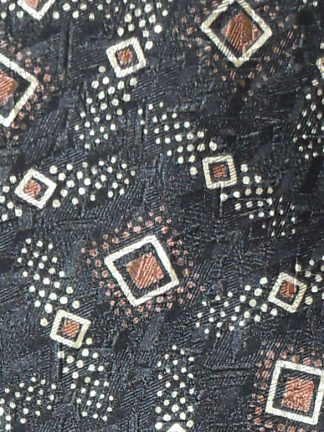 Vintage Yves Saint Laurent silk tie in brown and cream