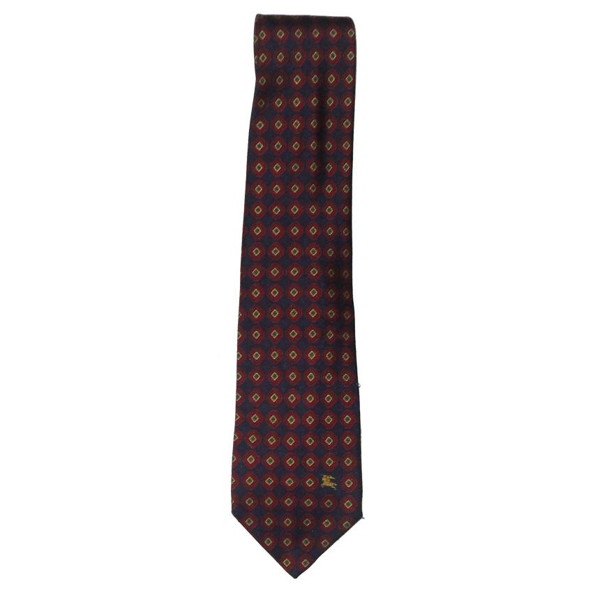 Vintage Burberrys classic silk tie