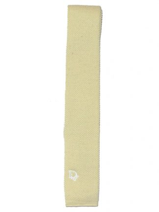 Christian Dior lemon knit tie