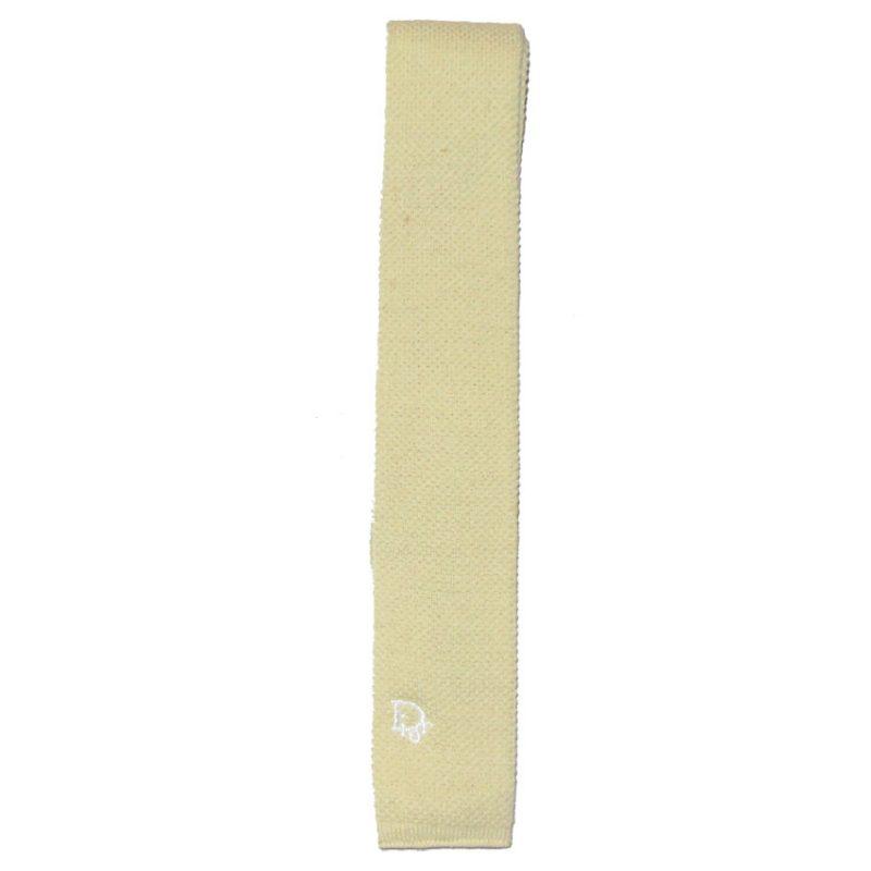 Christian Dior lemon knit tie