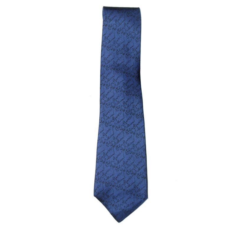 Beckford England blue silk tie