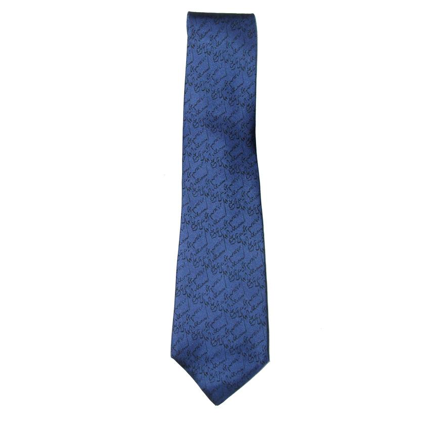 Beckford England blue silk tie