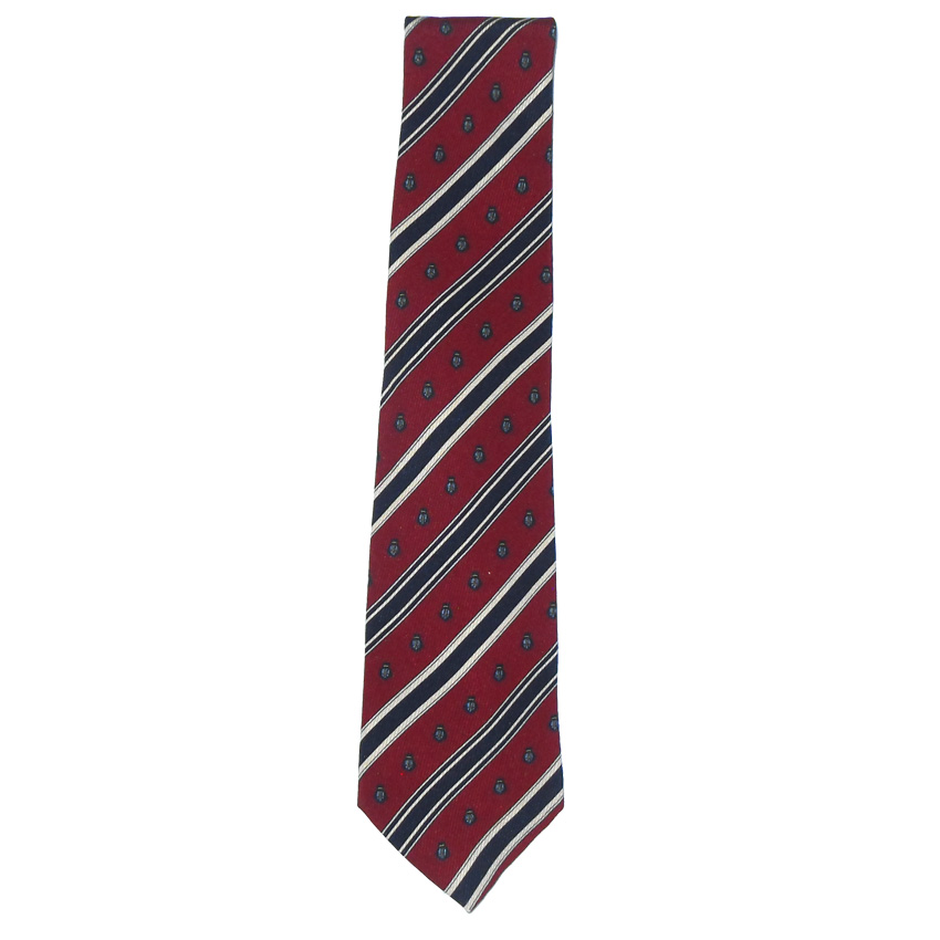 Harrods classic design silk tie