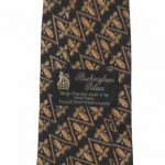 Fleur de lis design silk tie from Buckingham Palace