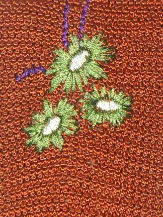 Brown silk knit tie