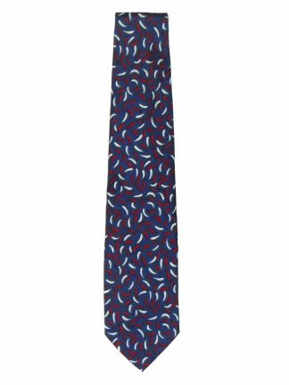 Yves Saint Laurent red, white and blue silk tie