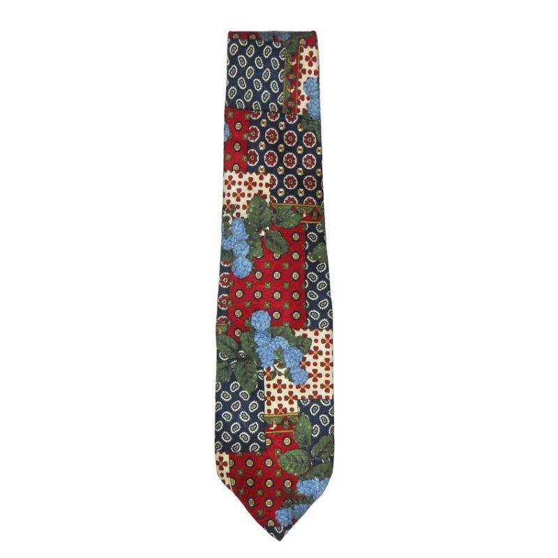 Blazer retro silk tie