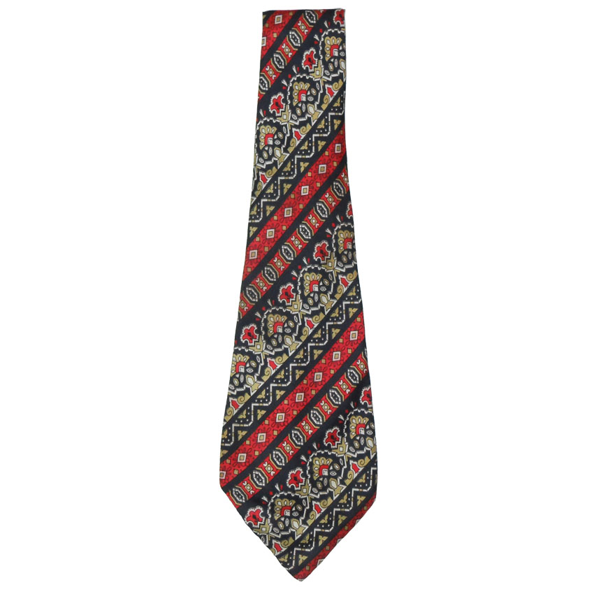 Vintage wide silk tie by Jean Paul