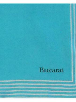 Baccarat blue silk scarf