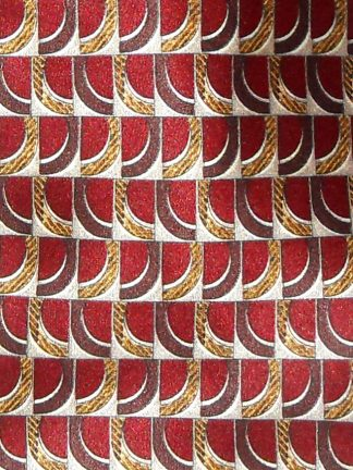 Valentino brown and gold design silk satin tie