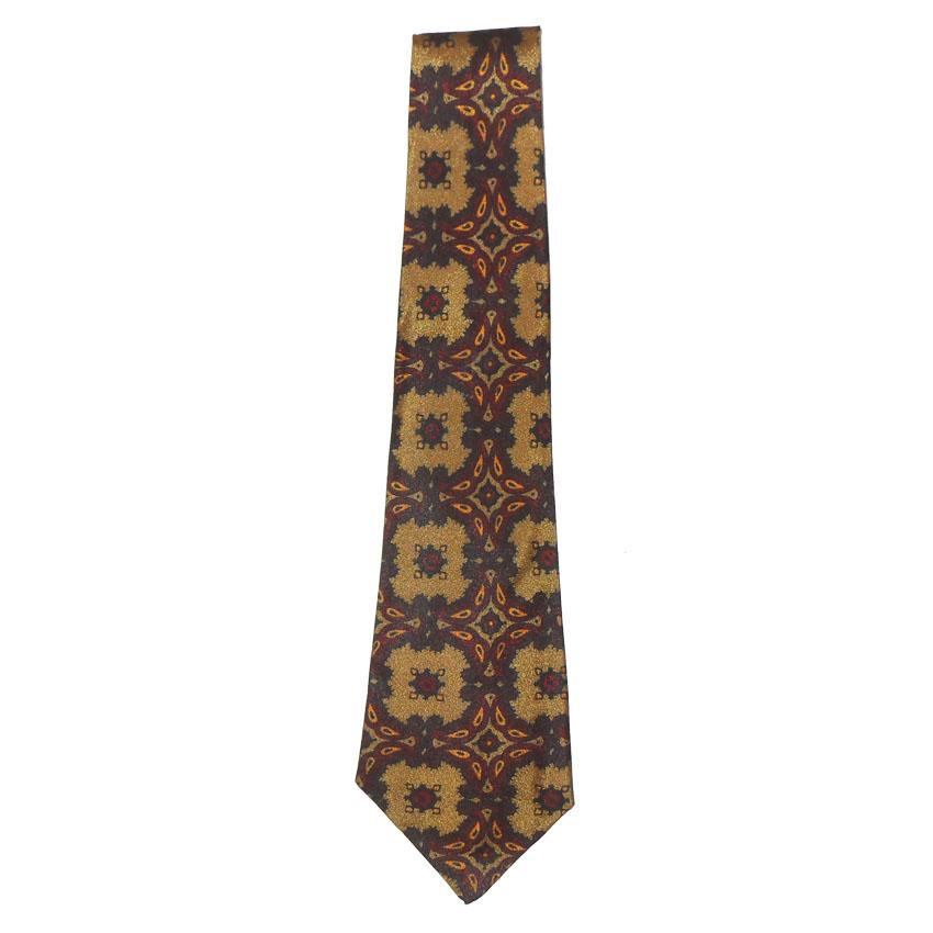 Sammy vintage tie with a design in gold, red, orange and black