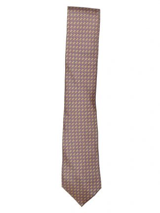 Hermes silk tie design 5080 PA graphic print