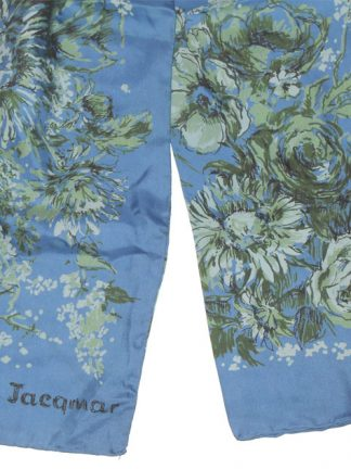 Jacqmar silk cravat with a blue background and floral design
