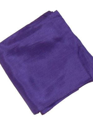 Large purple silk pocket square with handrolled edges