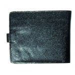 Keystone Black Fold Over Wallet