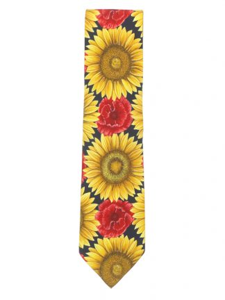 Stunning floral design silk tie by Fabric Frontline Zurich