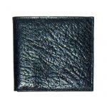 Arizona calf grained leather bifold black wallet