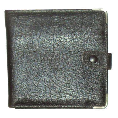 Brown hide leather bifold wallet