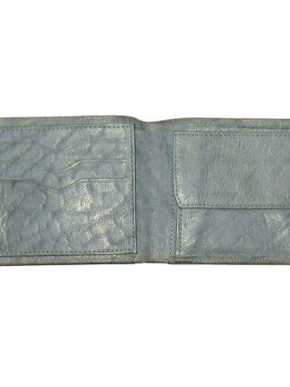 Kalahari Classics buffalo leather grey bifold wallet made in RSA