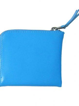 Comme Des Garcons blue leather coin wallet