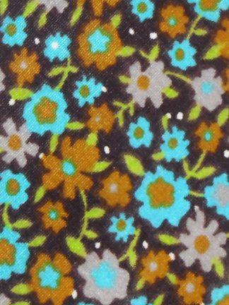1970s Harry Fenton velvet floral print tie