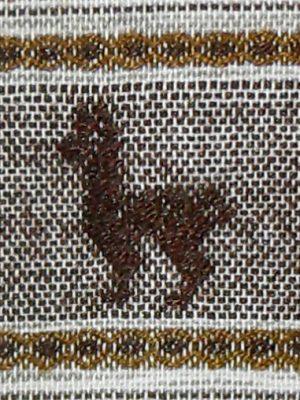 AAAA Peru hand loomed tie with a design of a llama