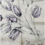 Tulip design silk scarf