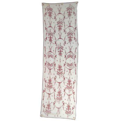 Cherub and urn design long silk chiffon scarf
