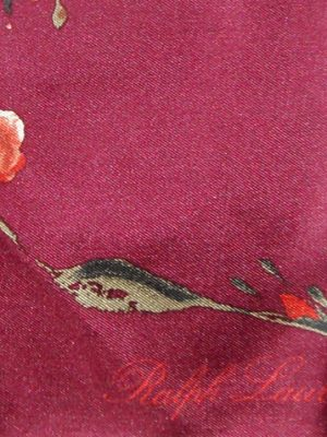 Ralph Lauren rose design silk scarf