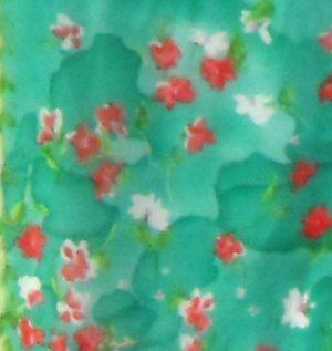 Blumarine long silk floral design scarf