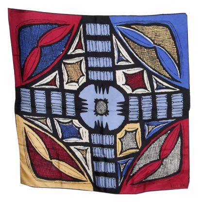 Richard Allan abstract design silk scarf